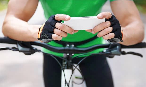 Cyclist smartphone
