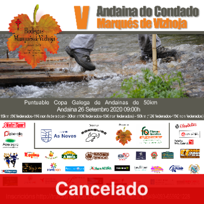 Poster for event 5ª Andaina do Condado Marqués de Vizhoja 2020