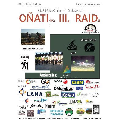 Cartel del evento OÑATIKO III.Raid Aventura 2019