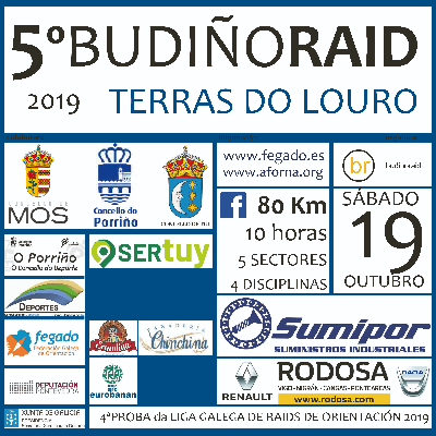 Poster for event 5º BUDIÑORAID Terras do Louro 2019