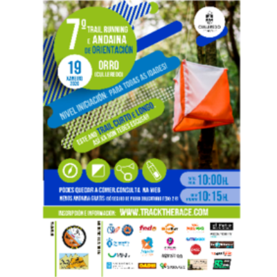 Poster for event 7º Trail Running e Andaina de Orientacion Orro 2019