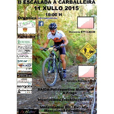 Cartel del evento II Escalada A Carballeira