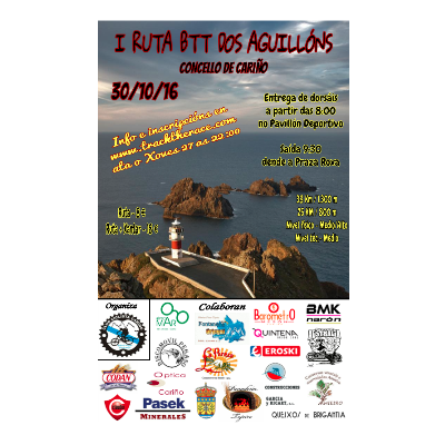 Poster for event I Ruta BTT dos Aguillóns