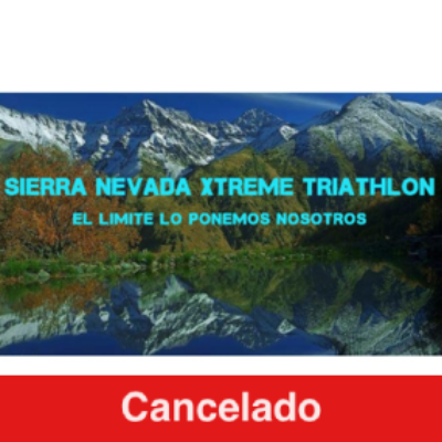 Cartel del evento Sierra Nevada Xtreme Triathlon 2020