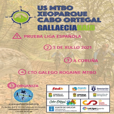 Poster for event MTBO Xeoparque Cabo Ortegal 2021