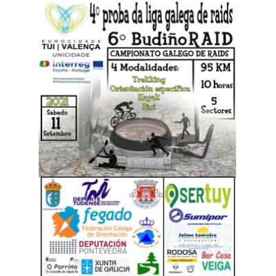 Poster for event 6º BudiñoRaid Eurocidade Tui-Valença 2021