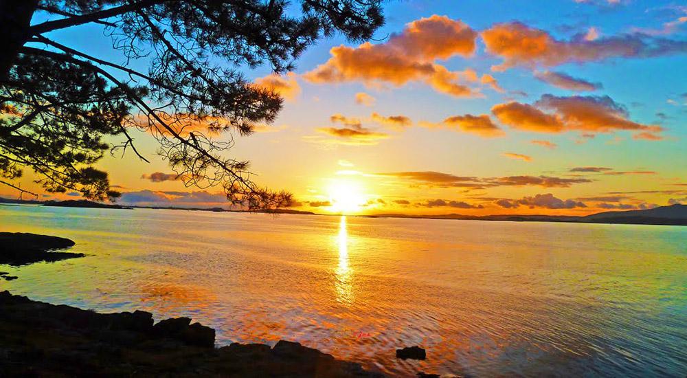 Puesta de sol desde Isla de Cortegada